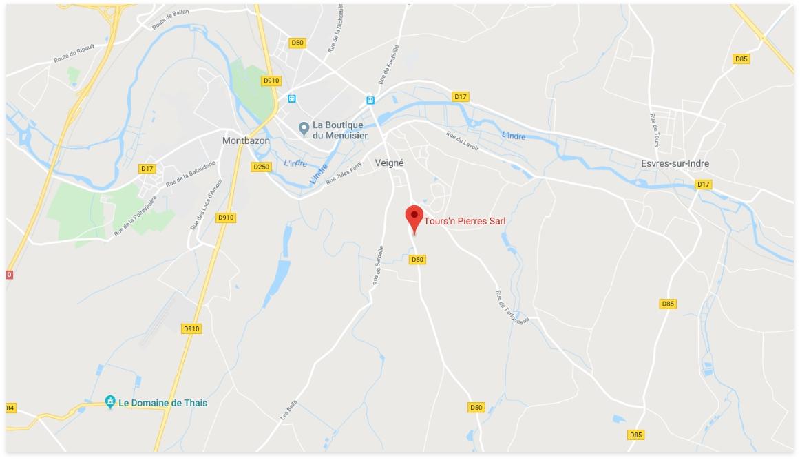 Localisation Tours'n Pierres