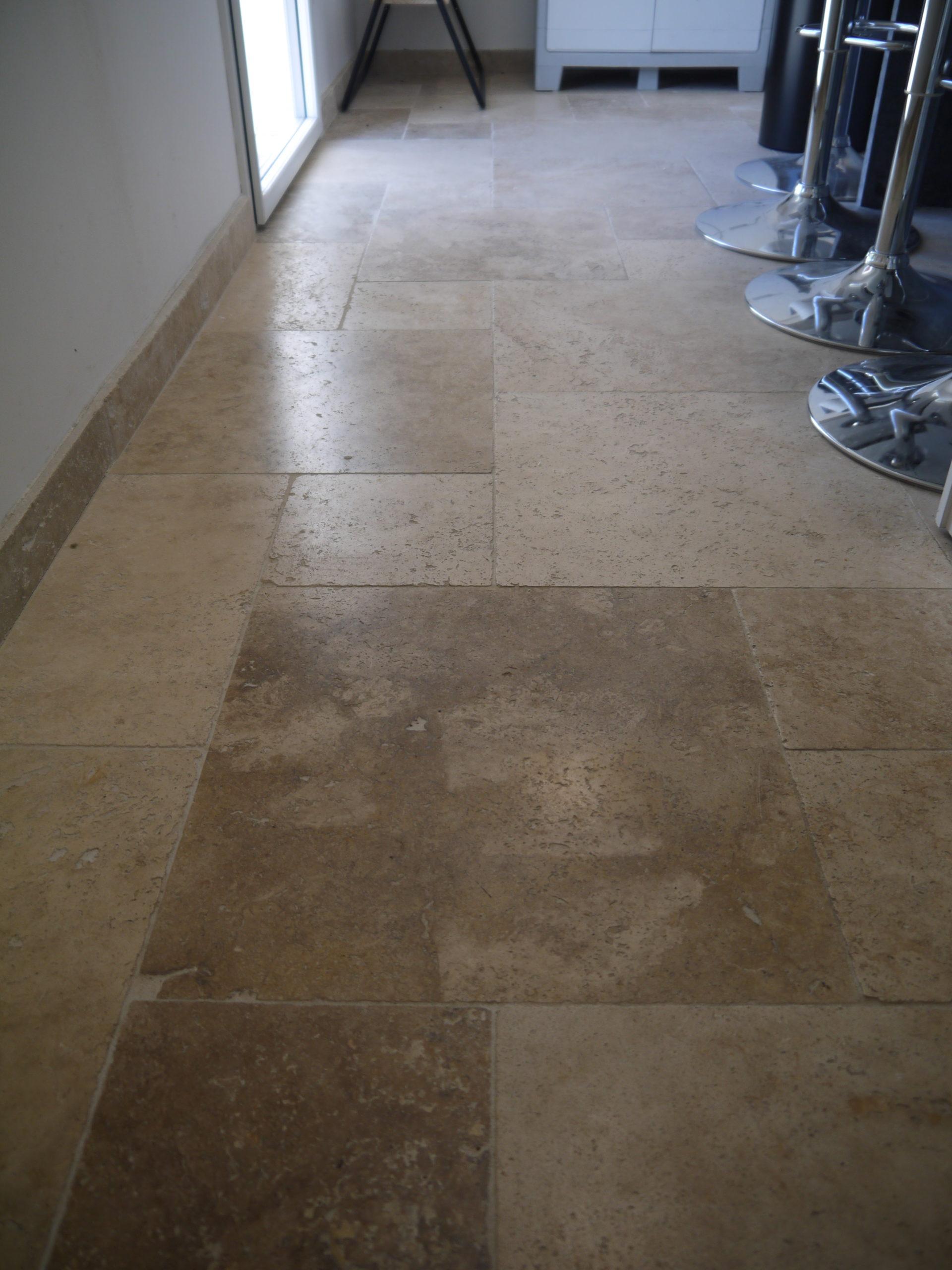 dalles en pierre naturelle, Travertin, 1er choix, beige nuancé