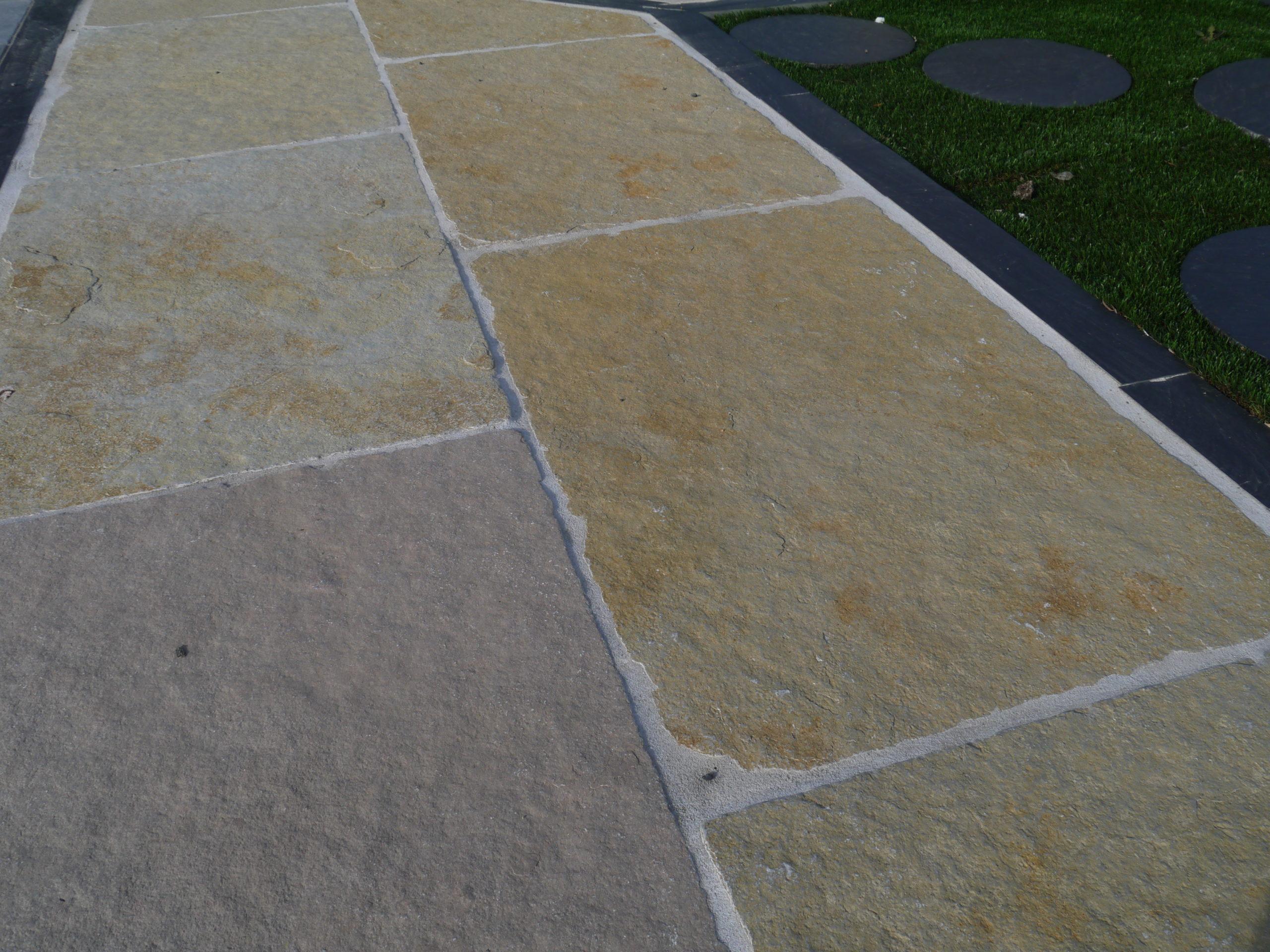 Dallage pierre naturelle grés jaune