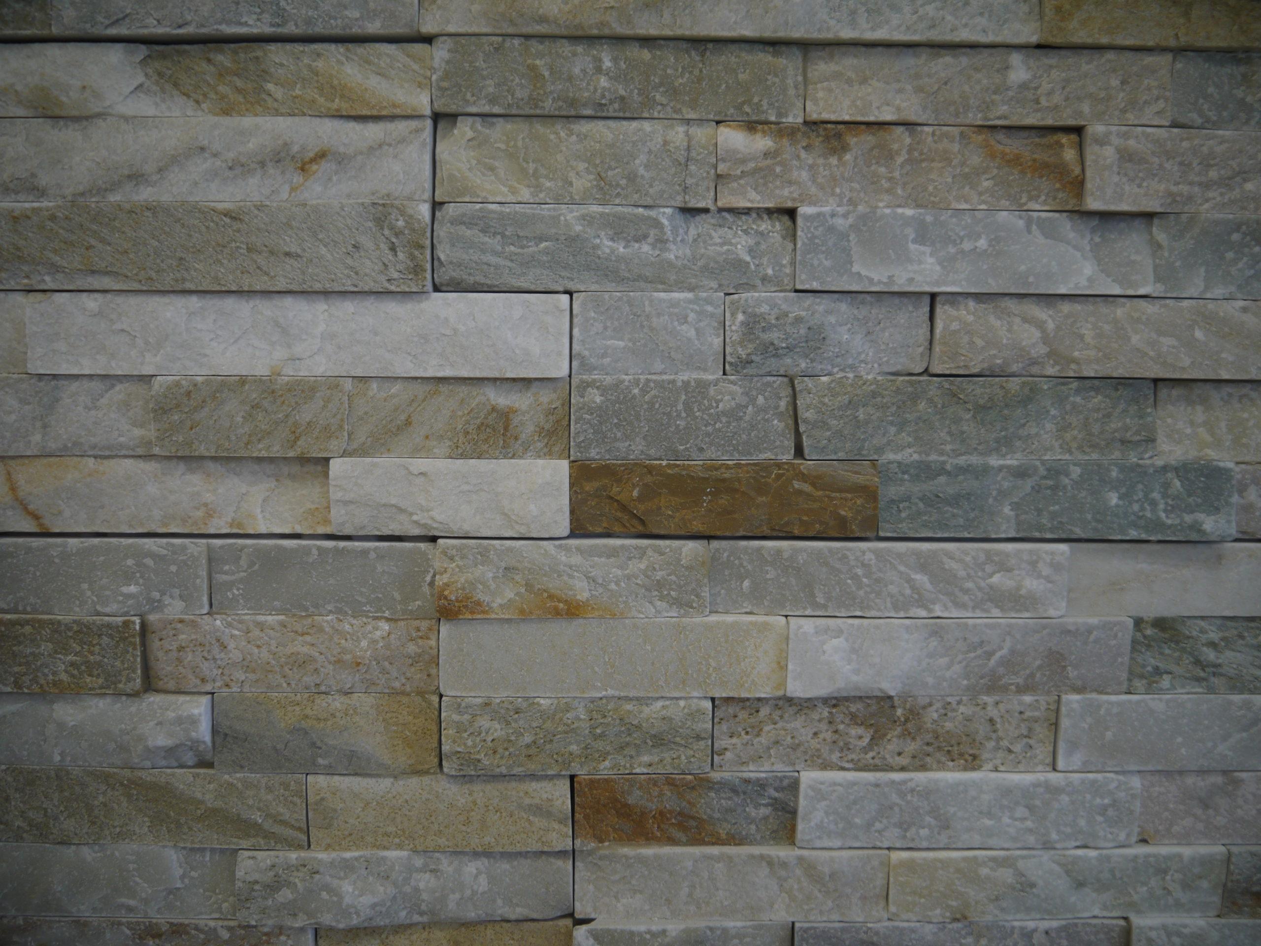 Parement mural quartzite