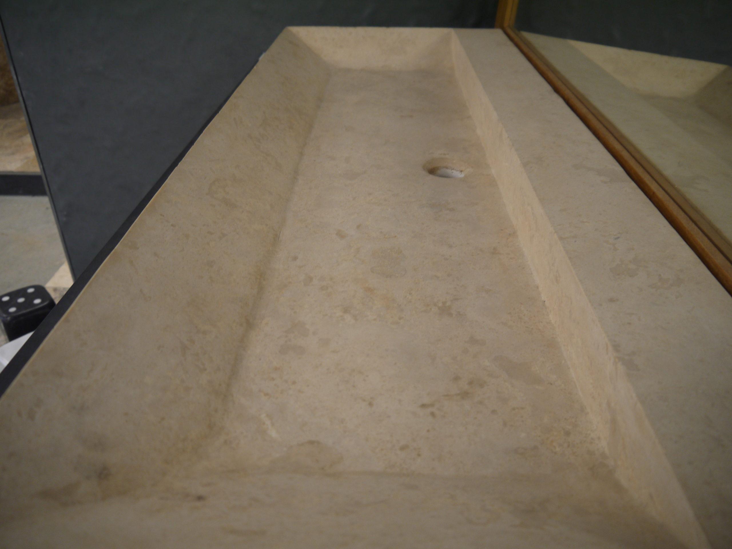 vasque en pierre naturelle travertin