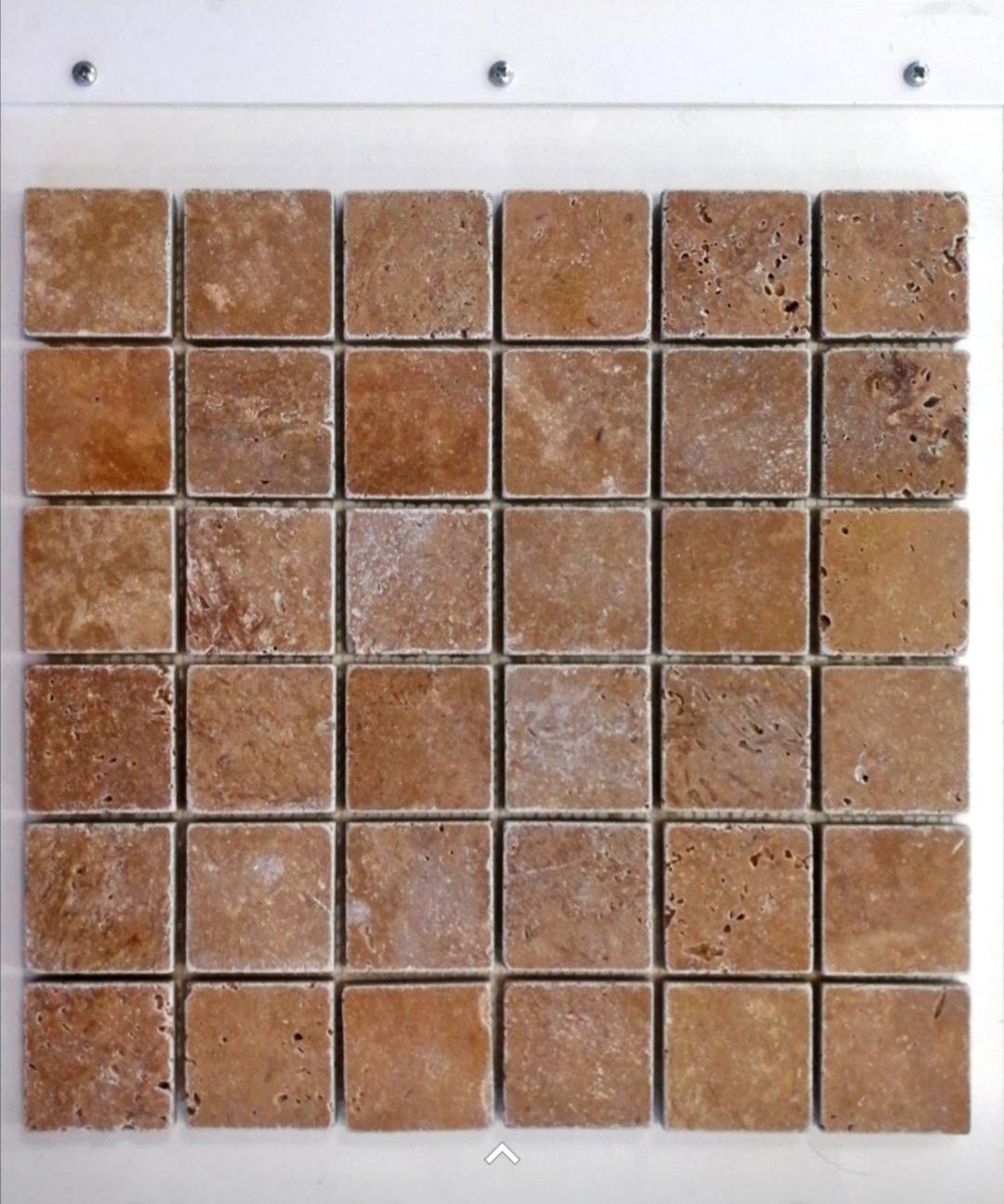 Mosaïque sur Trame en pierre naturelle travertin