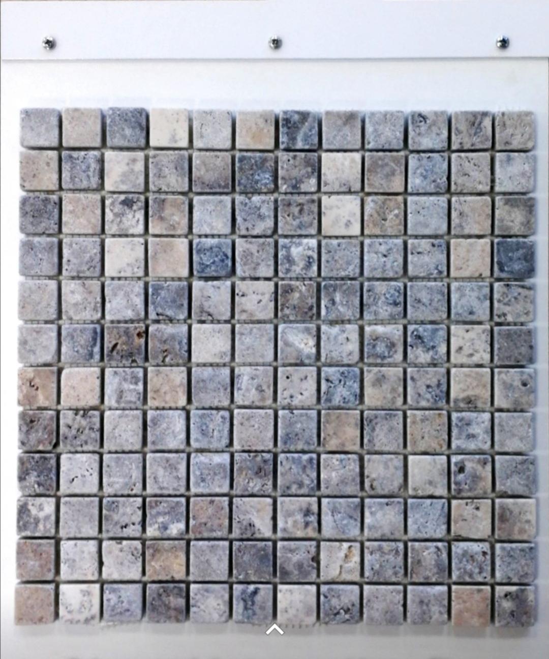Mosaique sur Trame en pierre naturelle travertin